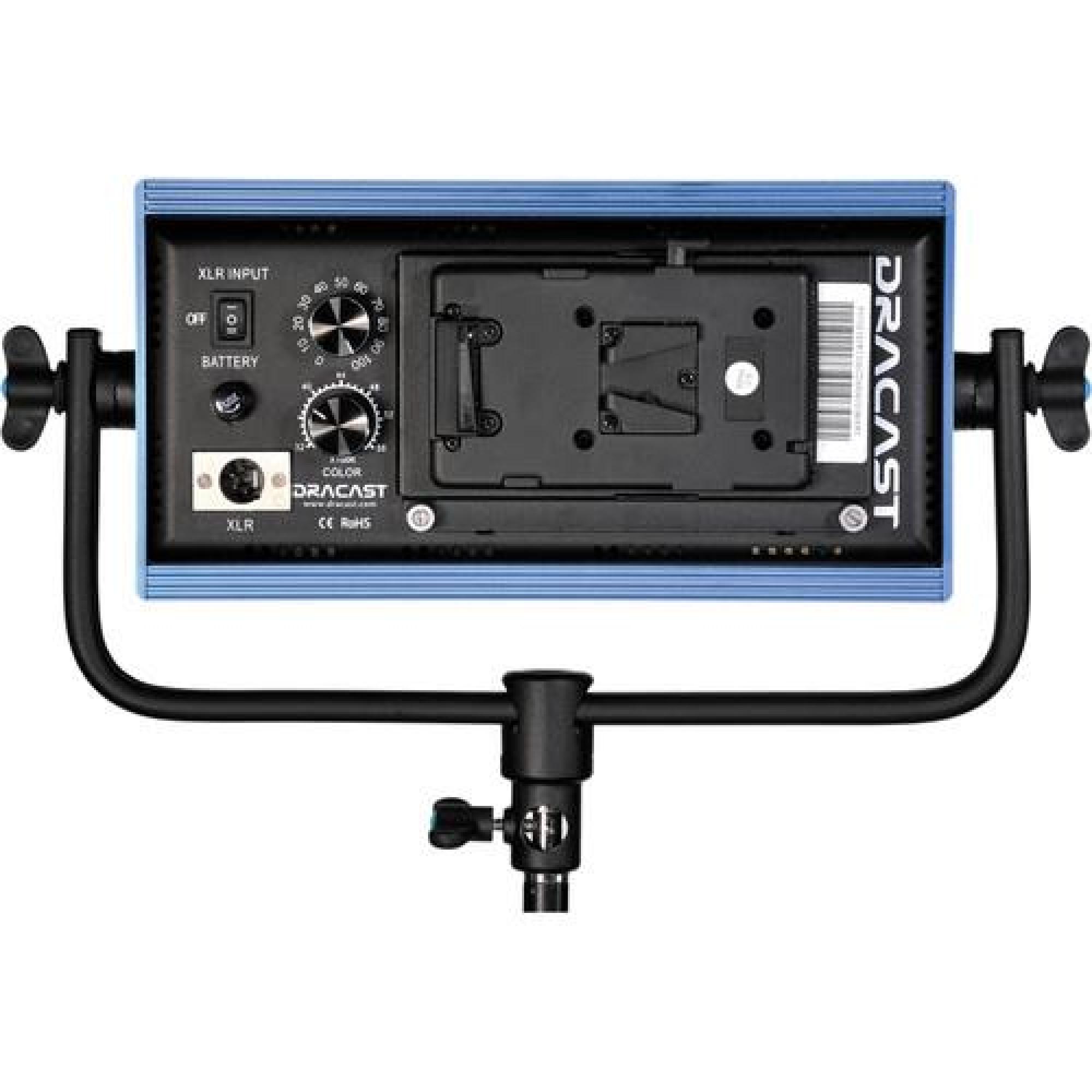 DRACAST LED500 Pro Series Panel Bi-Color V-Mount